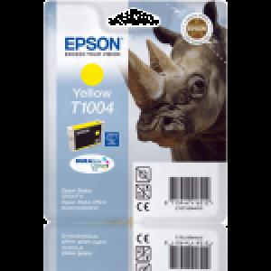 Cartouche d'encre origine Epson T1004 / C13T10044010 Jaune