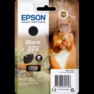 Cartouche d'encre origine Epson T3781 / C13T37814010 Noir
