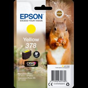 Cartouche d'encre origine Epson T3784 / C13T37844010 Jaune