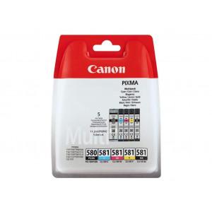 Pack de 4 Cartouches encre Canon CLI-581 couleur
