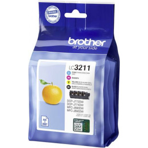 Pack de 4 cartouches Brother LC3211