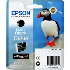 Cartouche d'encre Origine Epson T3248 Noir mat / C13T32484010