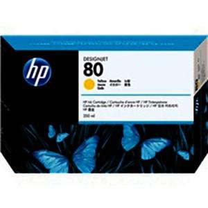 Cartouche encre HP C4848A N°80 Jaune