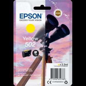 Cartouche d'encre origine Epson 502 / C13T02V44010 Jaune