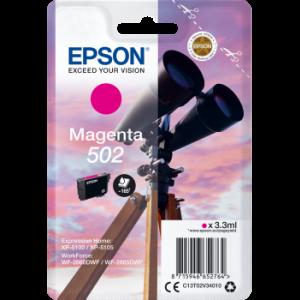 Cartouche d'encre origine Epson 502 / C13T02V34010 Magenta