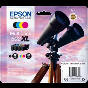 Pack de 4 cartouches origine Epson 502 XL Noire et Couleurs