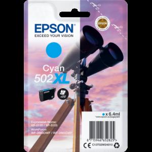 Cartouche d'encre origine Epson 502 / C13T02W24010 XL Cyan