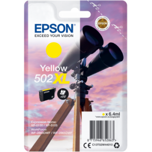 Cartouche d'encre origine Epson 502 / C13T02W44010 XL Jaune