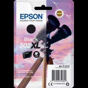 Cartouche d'encre origine Epson 502 / C13T02W14010 XL Noir