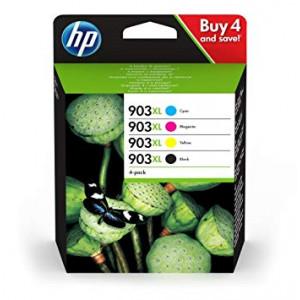 HP 903XL pack de 4 cartouches origine d'encre noire_cyan_magenta_jaune