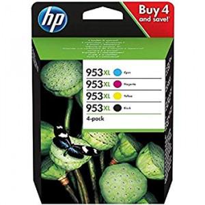HP 953XL pack de 4 cartouches origine d'encre noire_cyan_magenta_jaune