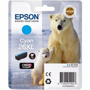 Cartouche encre Epson T2632 cyan - 26XL Ours Polaire
