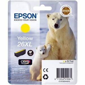 Cartouche encre Epson T2634 jaune - 26XL Ours Polaire