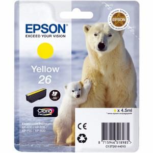 Cartouche encre Epson T2614 jaune - 26 Ours Polaire