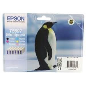 Pack 6 cartouches encre Noire et couleur  Epson T5597