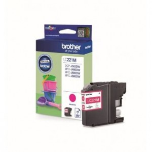 Cartouche encre Brother LC221M Magenta