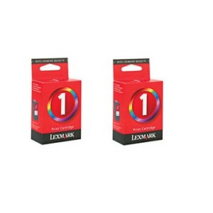 Pack de 2 Cartouches encre Lexmark N° 1