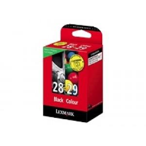 Pack Cartouche Lexmark Noire N°28 et couleur N°29
