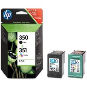 Pack cartouche encre HP N°350 noire et N°351 Couleurs