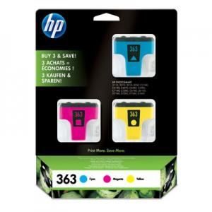 Pack de 3 cartouches HP N°363 couleur -CB333EE
