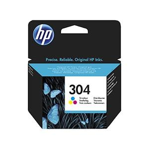 Cartouche d'encre Origine HP 304 trois couleurs / N9K05AE