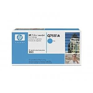 Cartouche Laser HP Q7581A Cyan