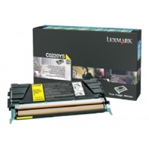 Cartouche laser Lexmark C5220YS  jaune
