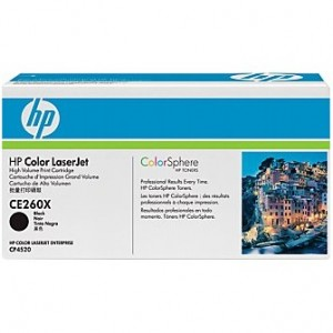 Cartouche laser HP Noire Haute Capacité CE260X