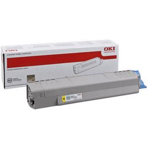 Cartouche laser Oki Jaune 44059165