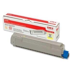 Cartouche laser oki Jaune 43487709