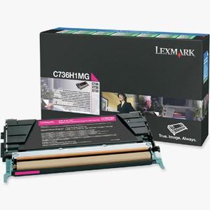 Cartouche laser lexmark C736H1MG magenta