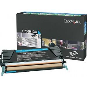 Cartouche laser lexmark C736H1CG cyan