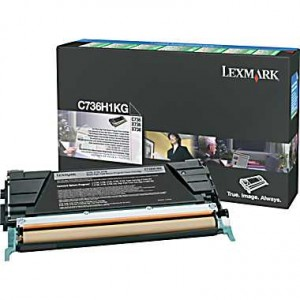 Cartouche laser lexmark C736H1KG noire