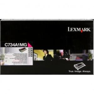 Cartouche de toner Lexmark C734A1MG magenta