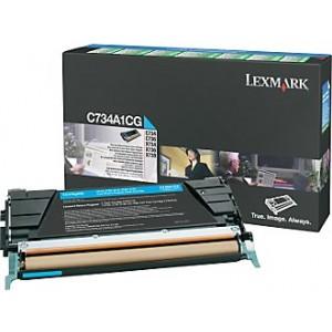 Cartouche de toner Lexmark C734A1CG cyan