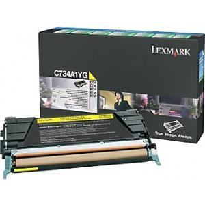 Cartouche de toner Lexmark C734A1YG jaune
