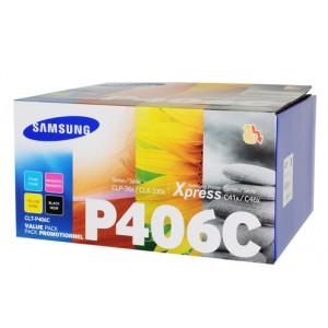 Pack 4 Cartouches de toner Samsung noire et couleur
