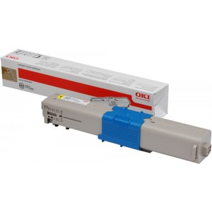 Toner laser Oki Jaune 44973533 - 1500 pages