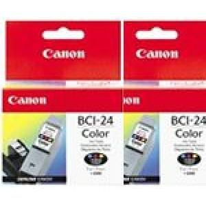 Lot de 2 cartouches encre Canon BCI 24 couleur