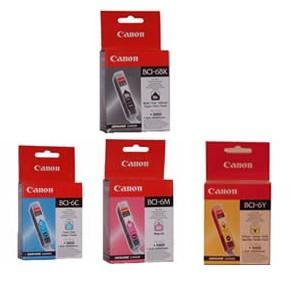 Lot cartouche encre Canon Noire et couleur  BCI 6