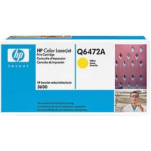 Toner laser origine HP Q6472A Jaune