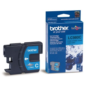 Cartouche encre Brother LC980C Cyan