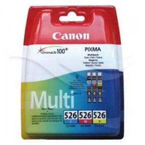 Pack de 3 Cartouches encre Canon CLI-526 couleur