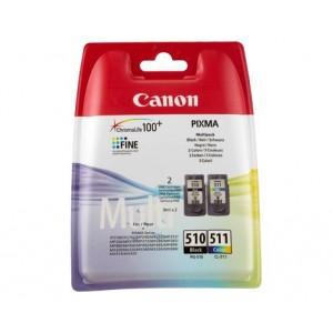 Pack 2 Cartouches Canon PG-510 Noire et CL-511 couleur