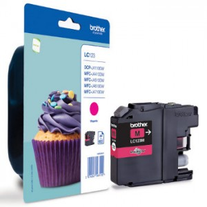 cartouche encre Brother LC123M magenta