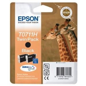 Lot de 2 cartouches encre Epson Noire T0711 Haute Capacité