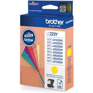 Cartouche encre Brother LC223Y jaune
