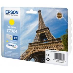 Cartouche encre  EPSON T7024 XL couleur jaune