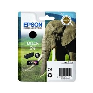 Cartouche encre Epson Noire 24 elephant