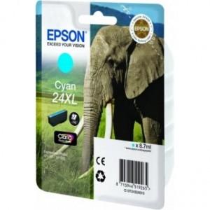 Cartouche encre Epson Cyan 24XL Elephant